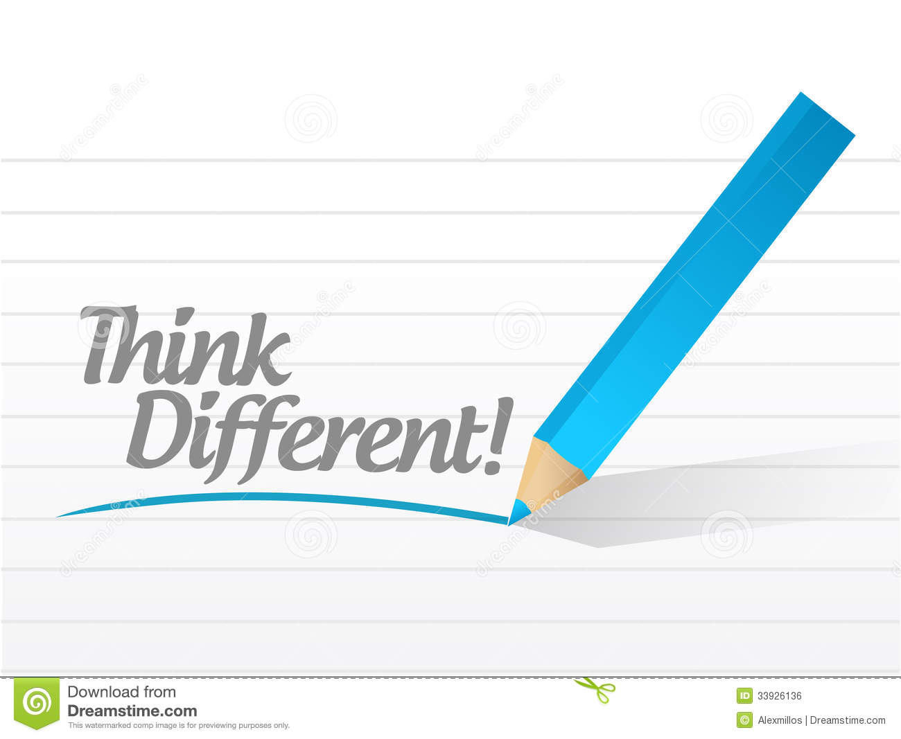 Think Different Message Illustration Design Royalty Free