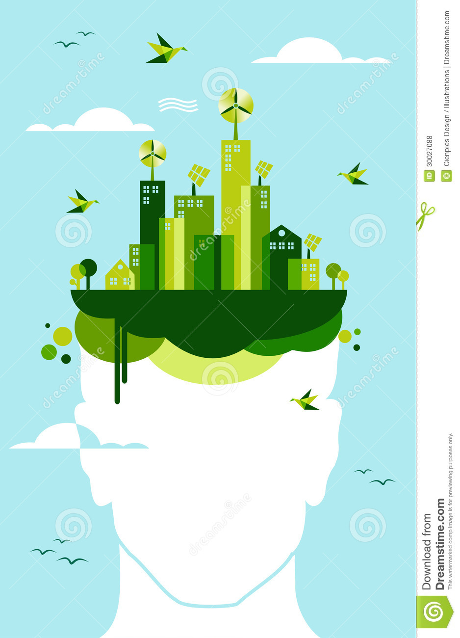 Green City People Idea Royalty Free Stock Photos Image