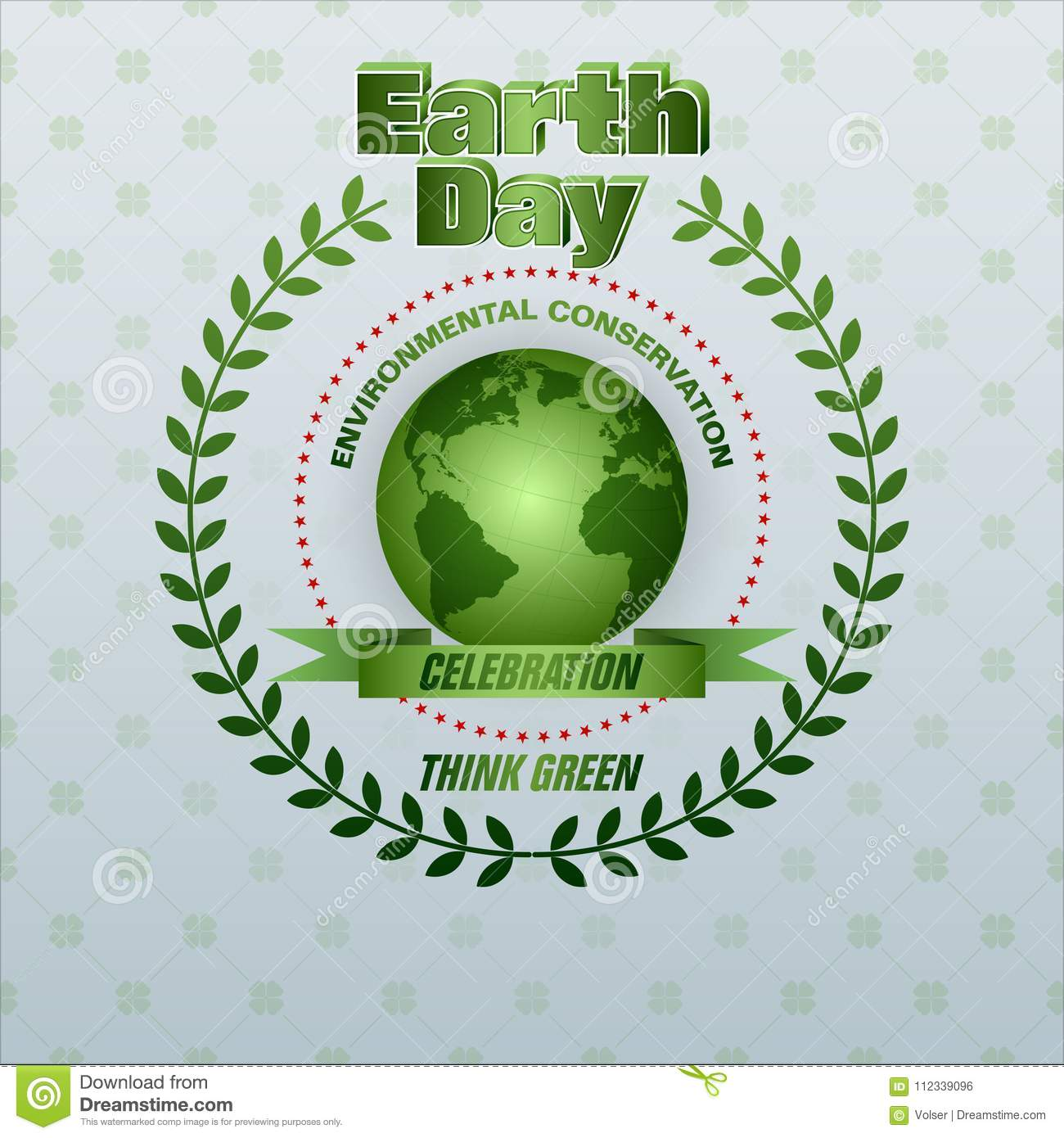 Think Green Is Day Of The Earth S Celebration Stock Vector
