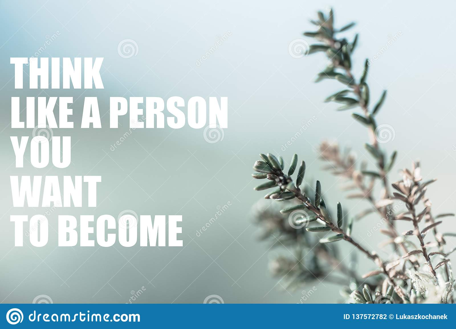 Motivational sentence regarding self-development. Motivational header wallpaper background bright
