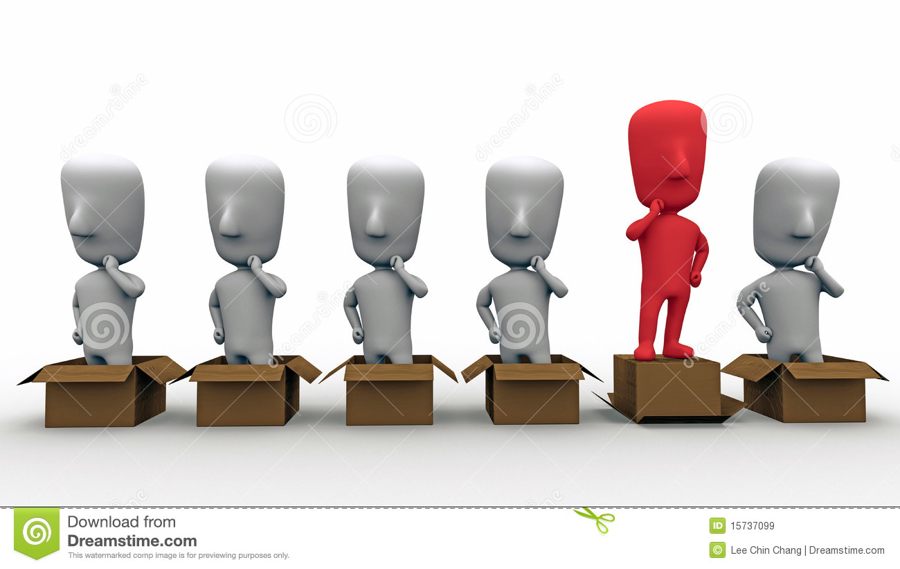 Think Out Of The Box Royalty Free Stock Images Image