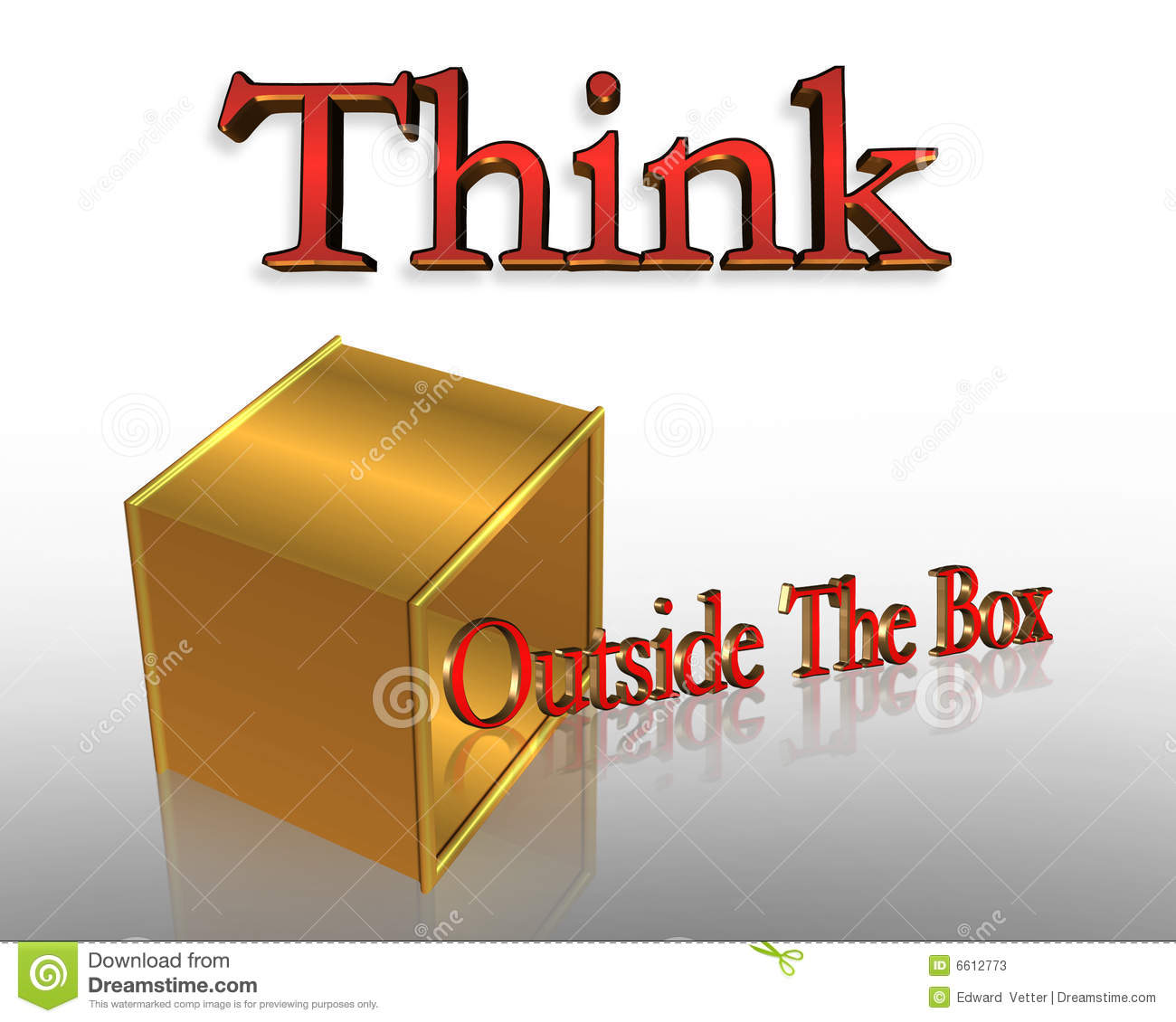 think outside the box business slogan stock illustration illustration of poster original 6612773. Black Bedroom Furniture Sets. Home Design Ideas