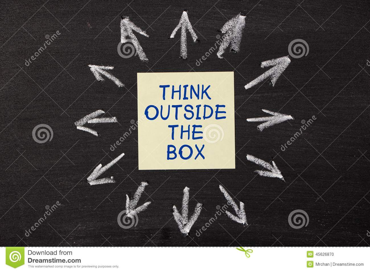 Think Outside The Box Stock Photo Image 45626870