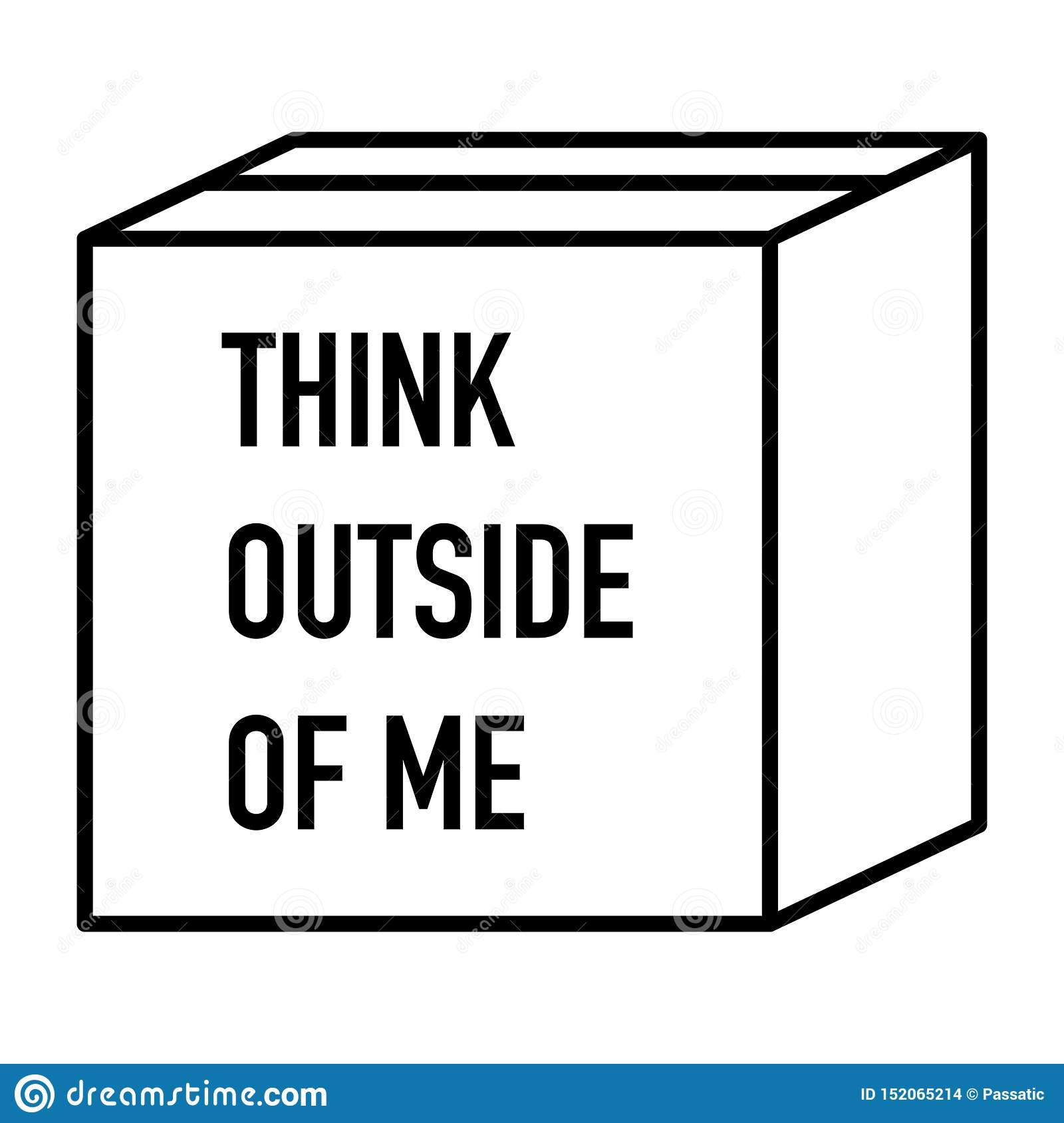 Think outside the box very creative idea