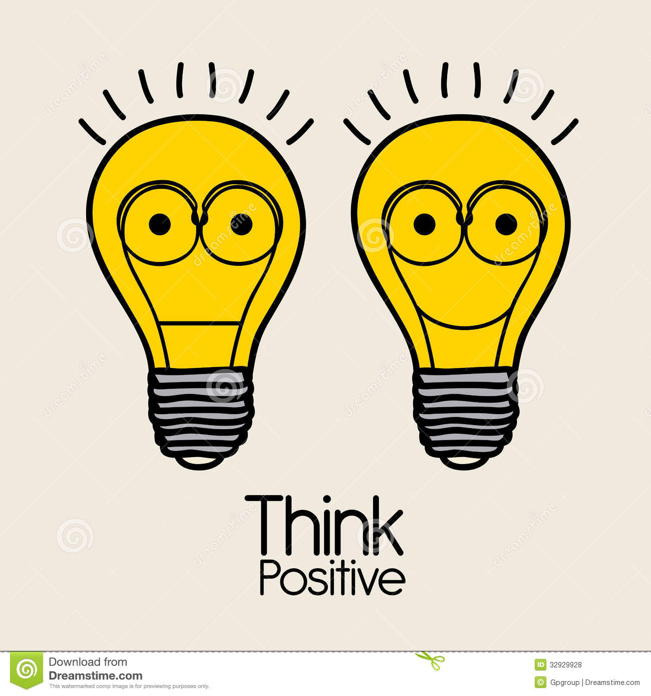 Think Positive Royalty Free Stock Photos - Image: 32929928