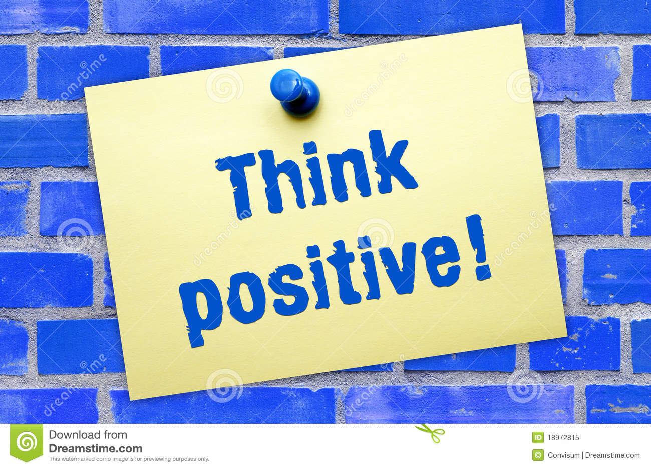 think positive sign royalty free stock photo image 18972815