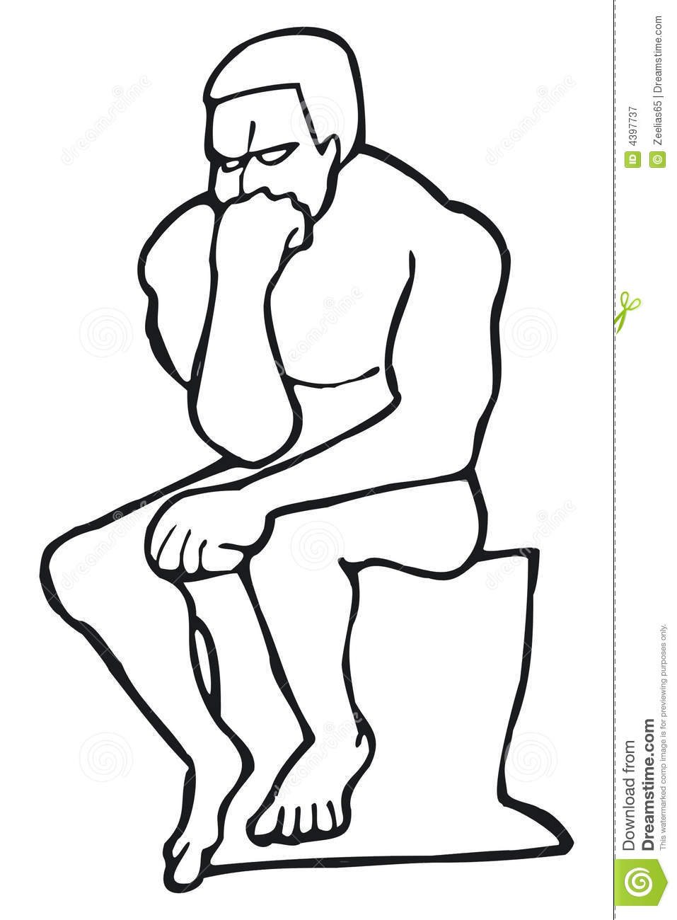 the thinker editorial photography illustration of rodin 4397737