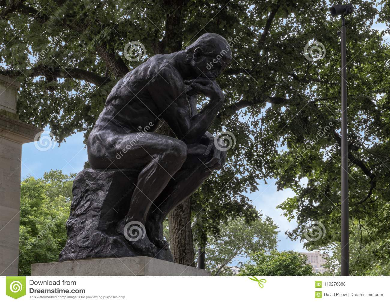 The Thinker By Aguste Rodin At The Rodin Museum Entrance Benjamin