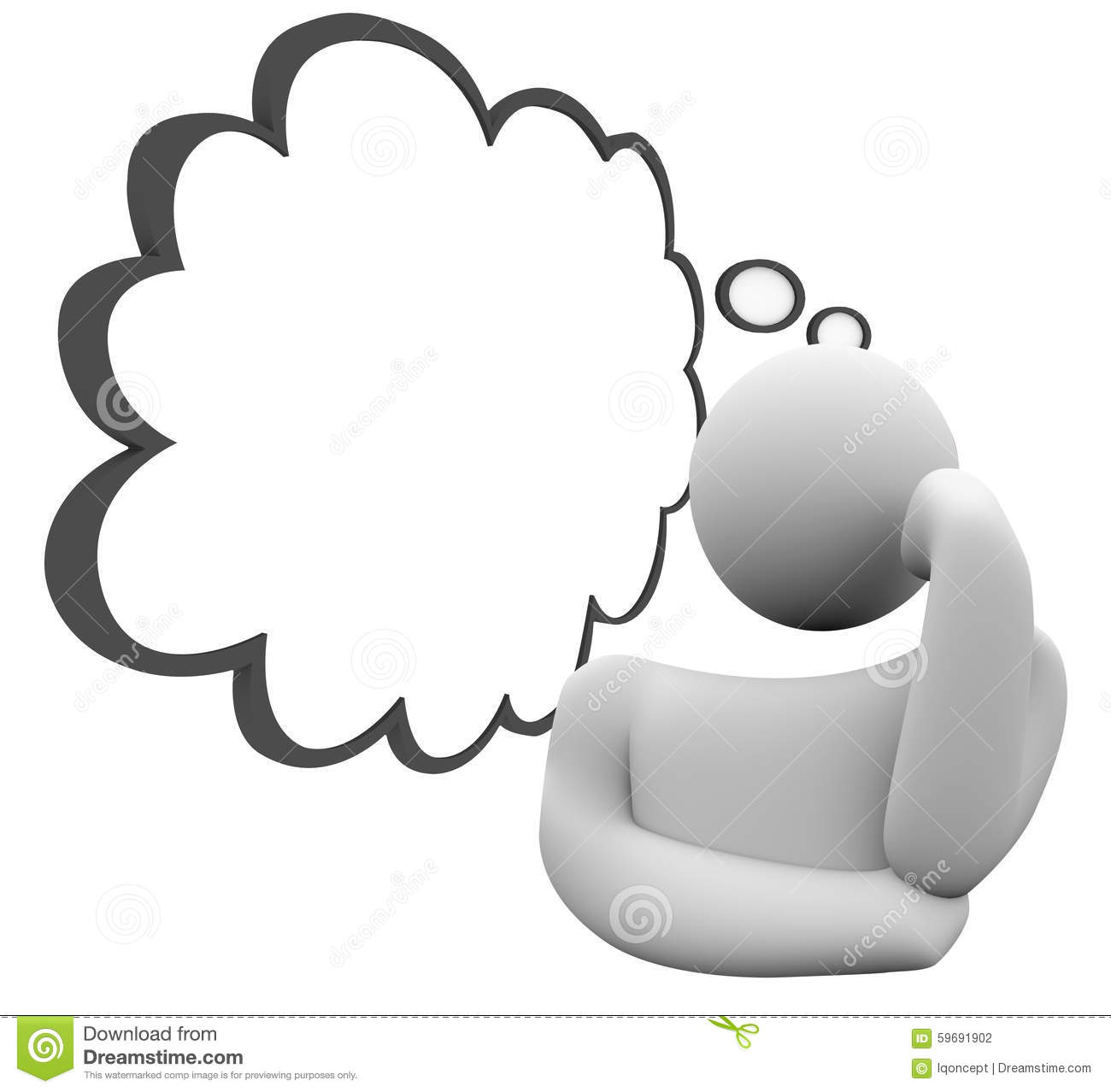 Thinker Thought Cloud Question Thinking Person Wondering Daydrea