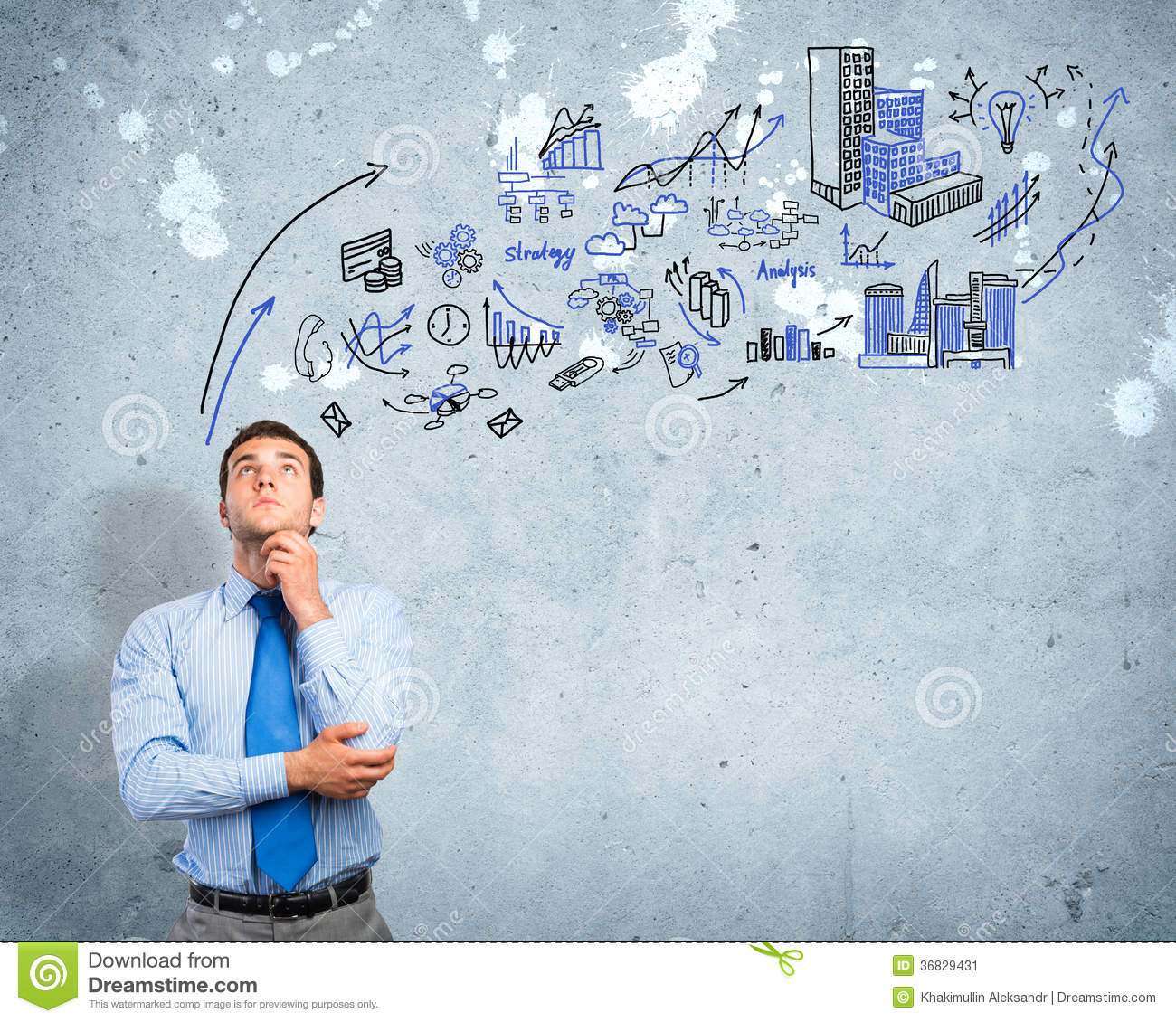 thinking-business-man-sketch-background-
