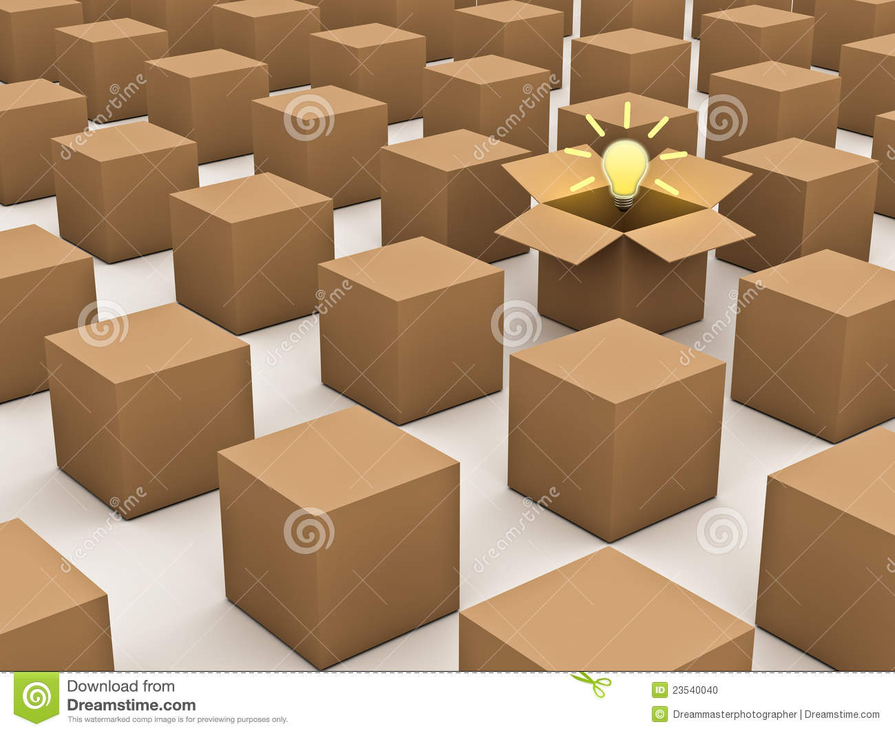 Thinking Outside The Box And Individuality Concept Stock Photo Image 23540040