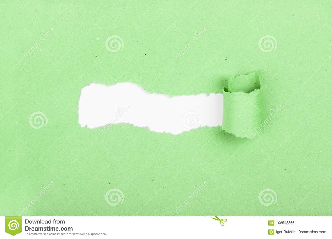 Thinking outside the box. Torn strip of paper. Idea and new innovation. Breaking new ground. Place for text. Discovery.