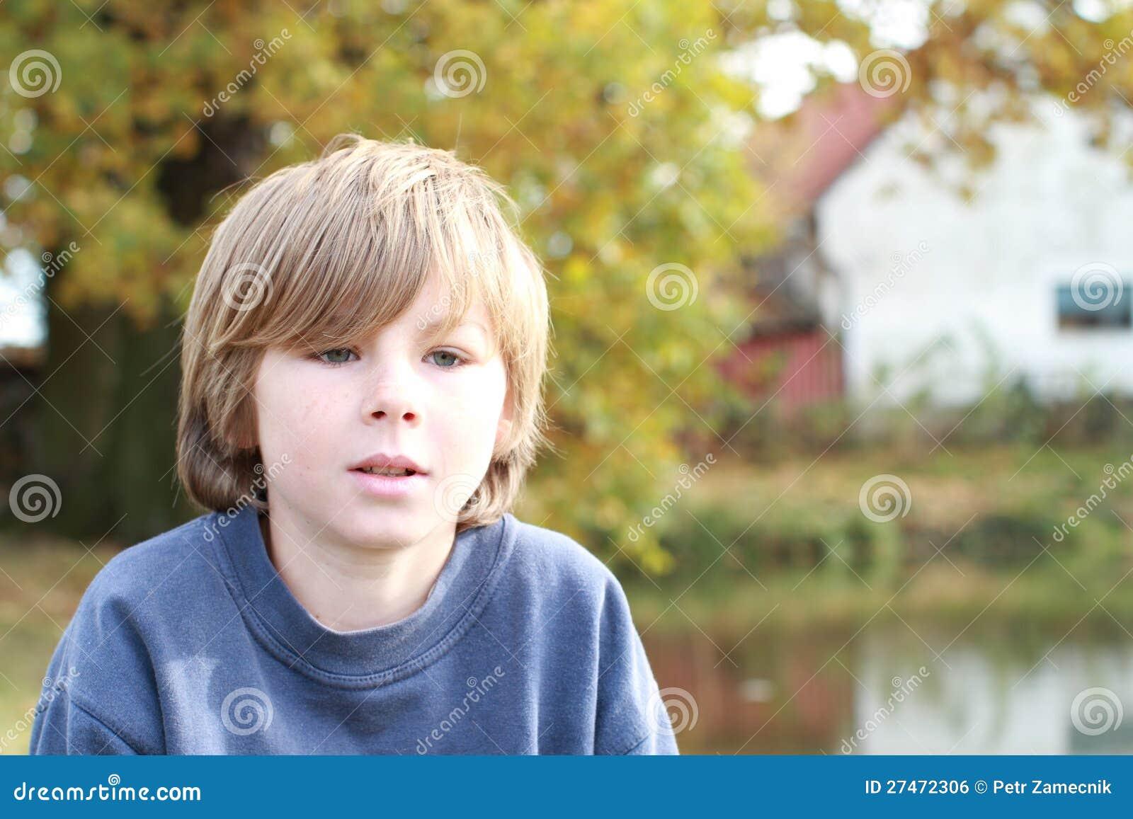 Thinking sad boy