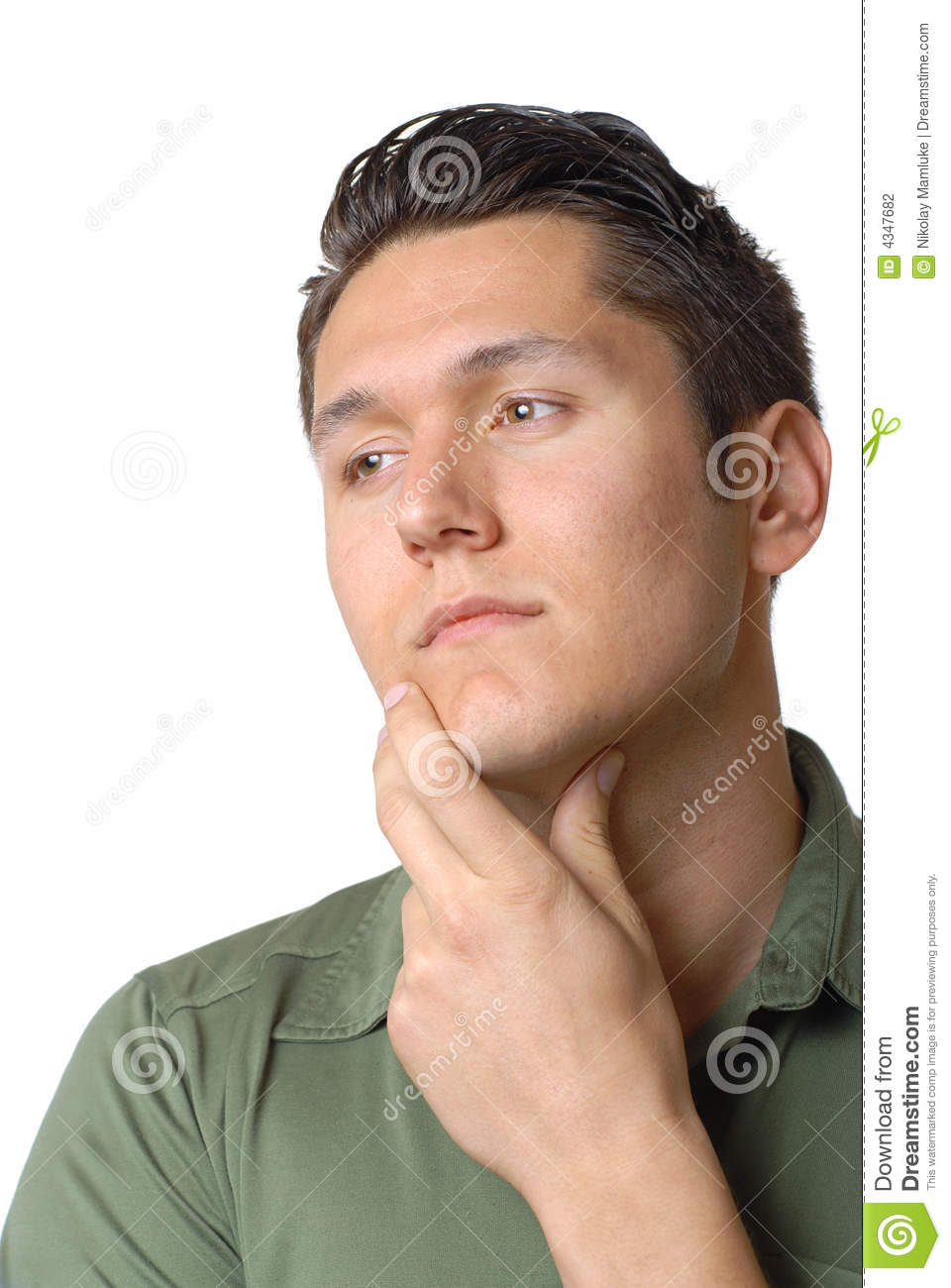 Thinking Sad Man Stock Photography - Image: 4347682