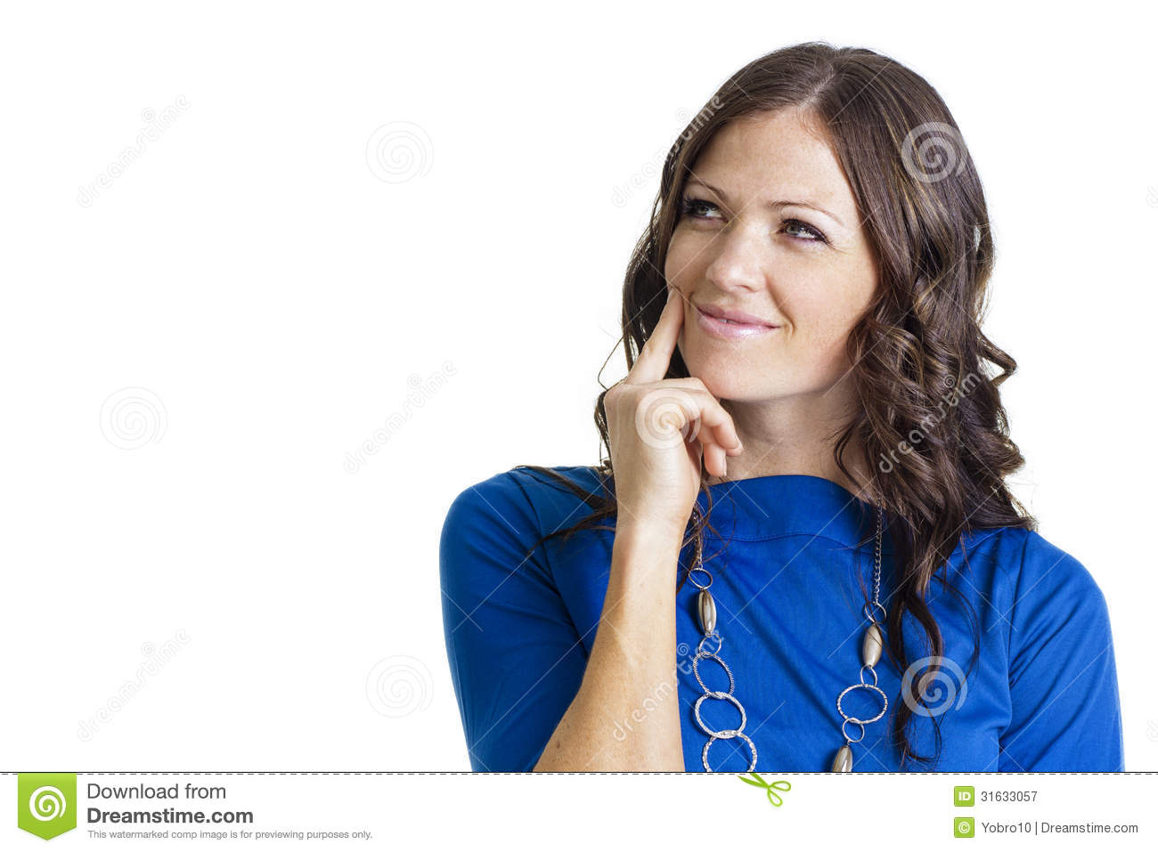 Woman White Dres Side Hand Head And Hip Stock Image