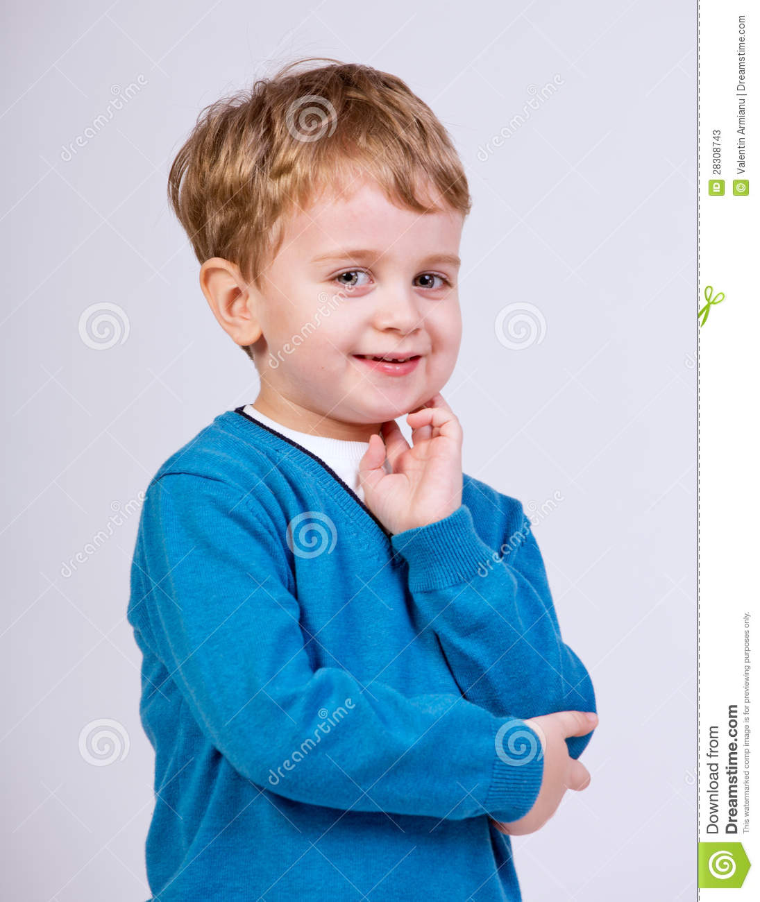 Thinking Young Kid Stock Photos - Image: 28308743