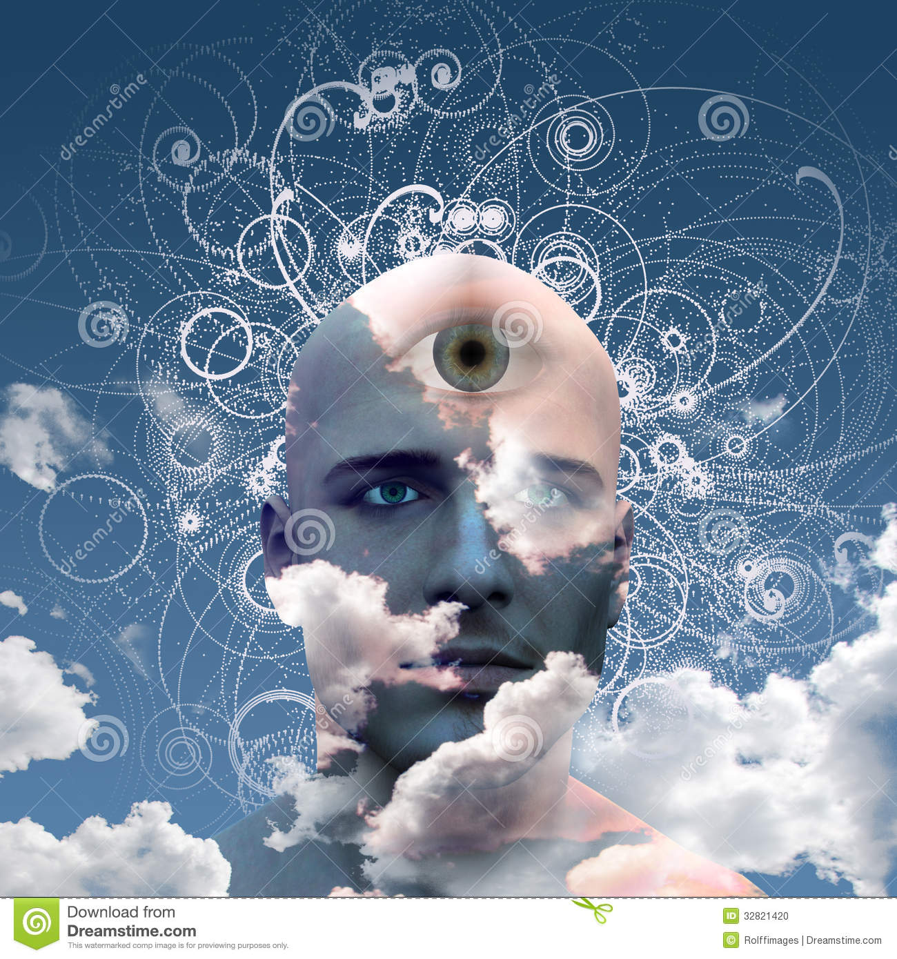 Third Eye Stock Photo - Image: 32821420