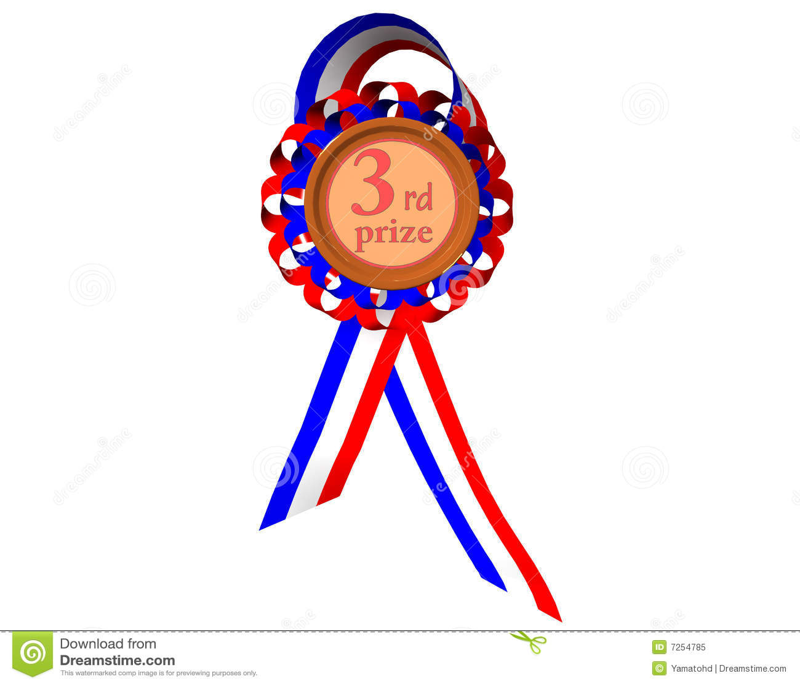 Third prize medal stock illustration. Illustration of icon ...