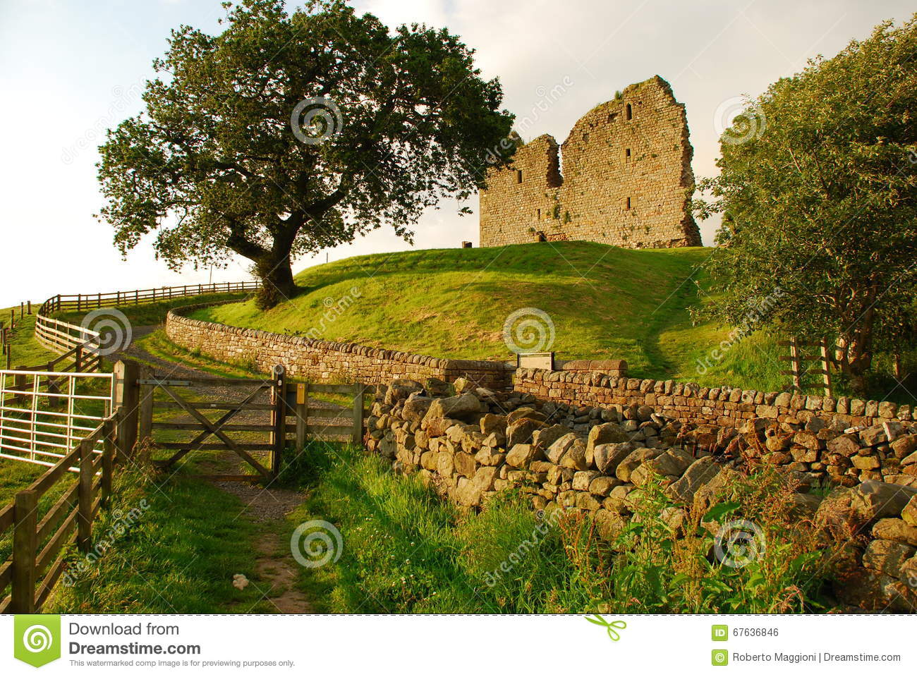 Thirlwall castle, British landscape, England, UK