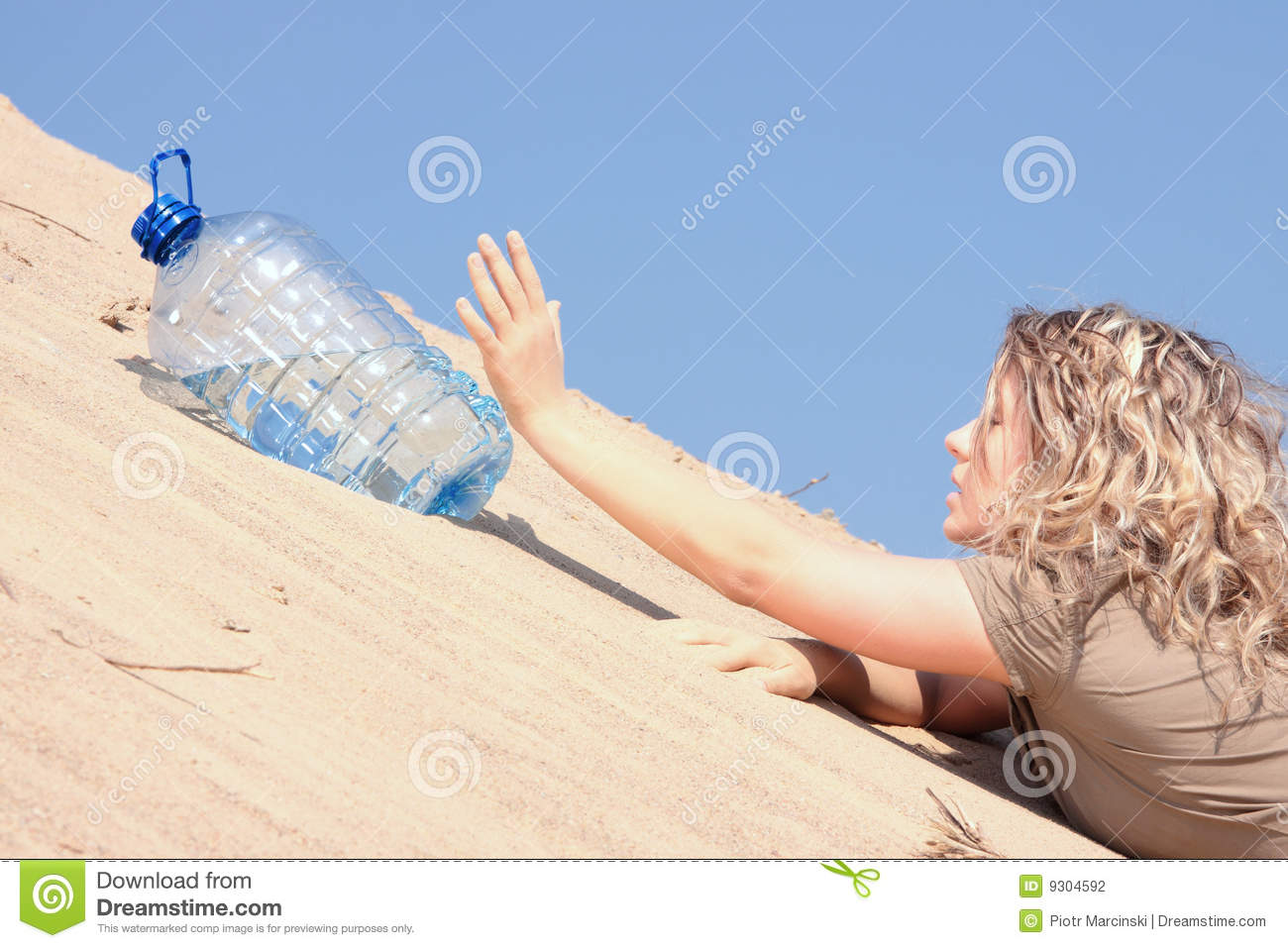 Thirsty girl looking for water