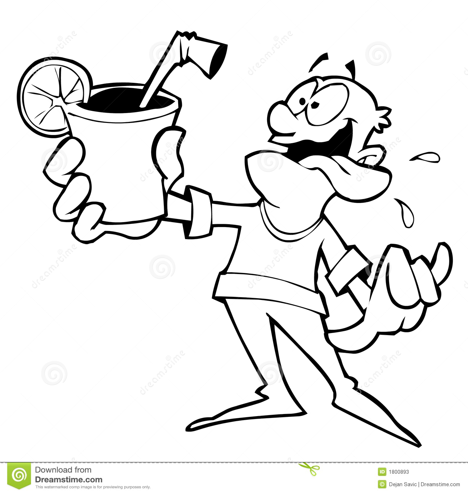 thirsty man stock illustration illustration of thirsty 1800893