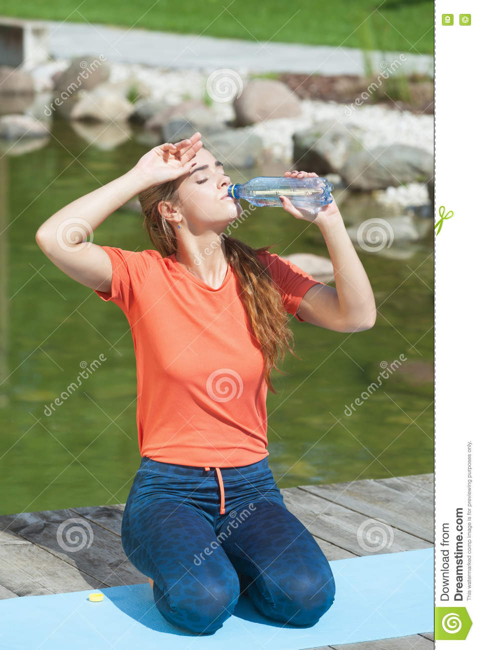 Download Thirsty after workout stock photo. Image of park, athlete - 77040348