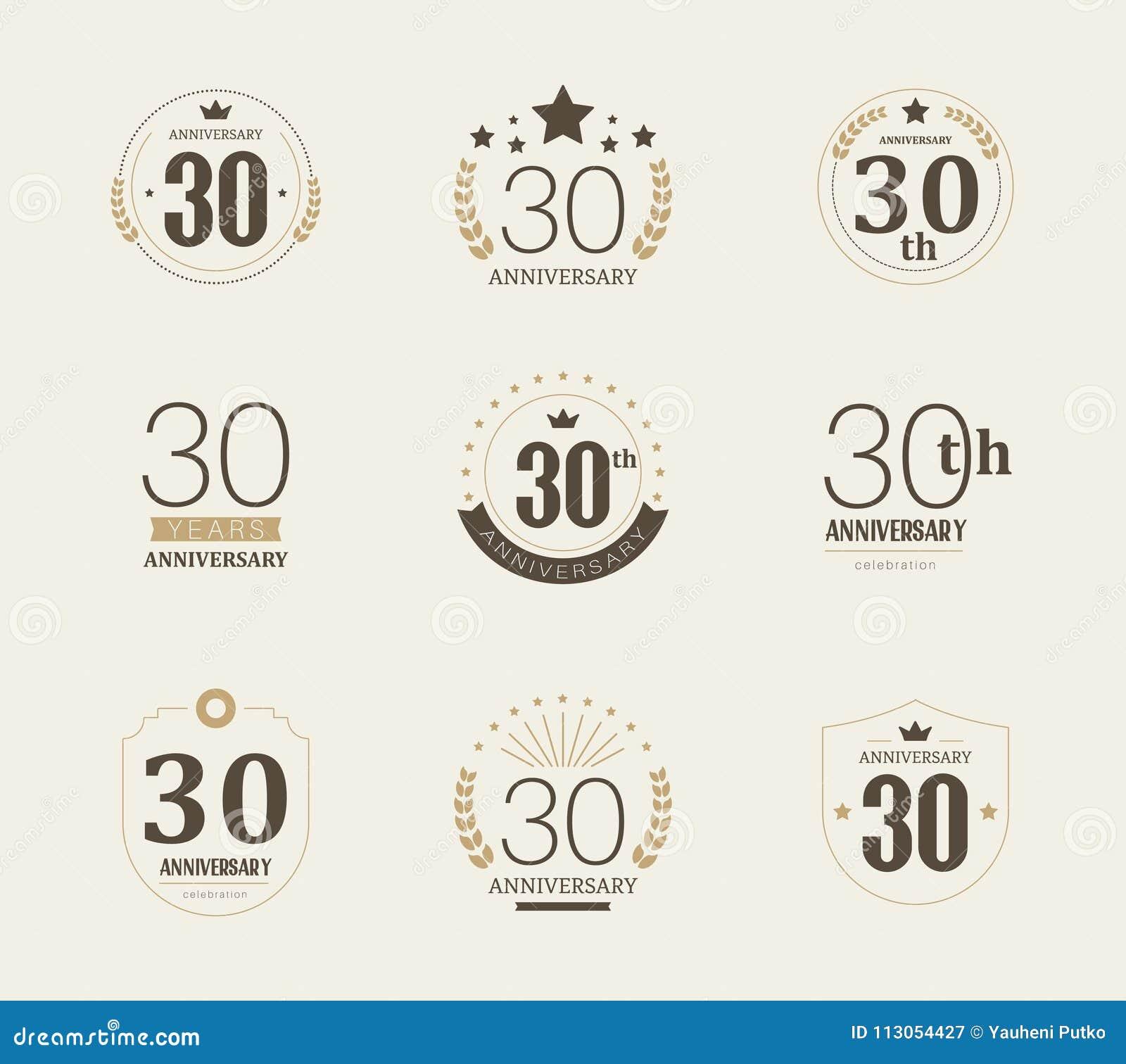 Thirty Years Anniversary Celebration Logotype 30th Anniversary Logo