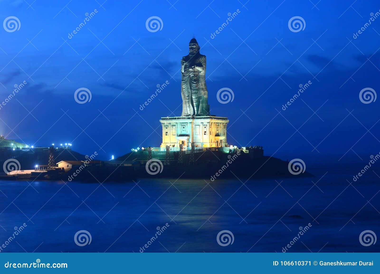 Thiruvalluvar Statue in Kanyakumari