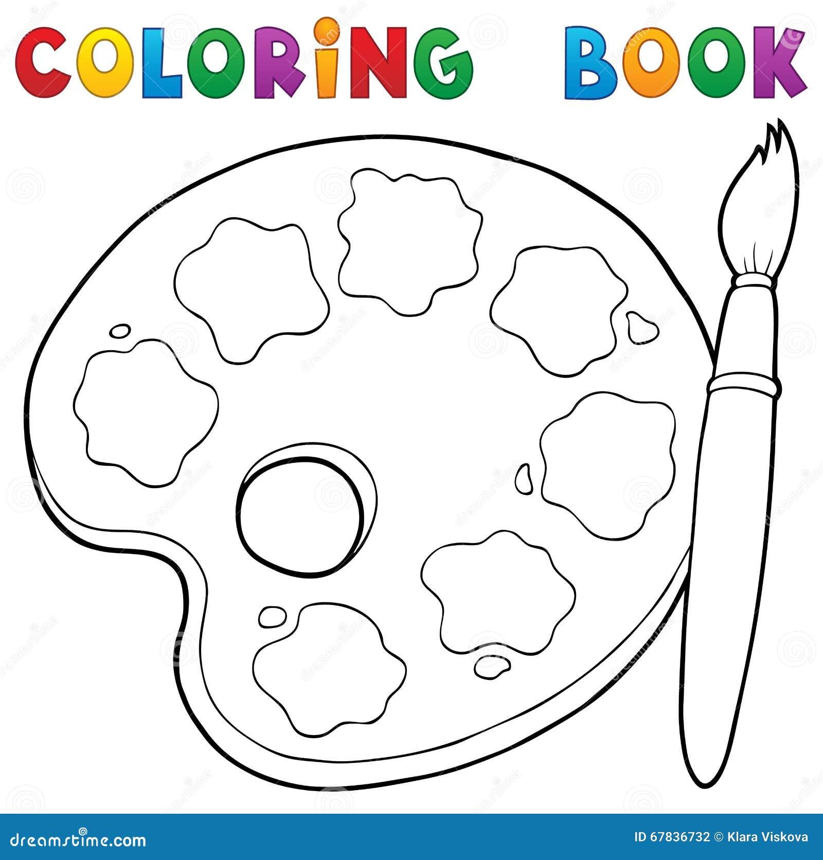 Th me 1 de palette de peinture de livre de coloriage - Palette a dessin ...