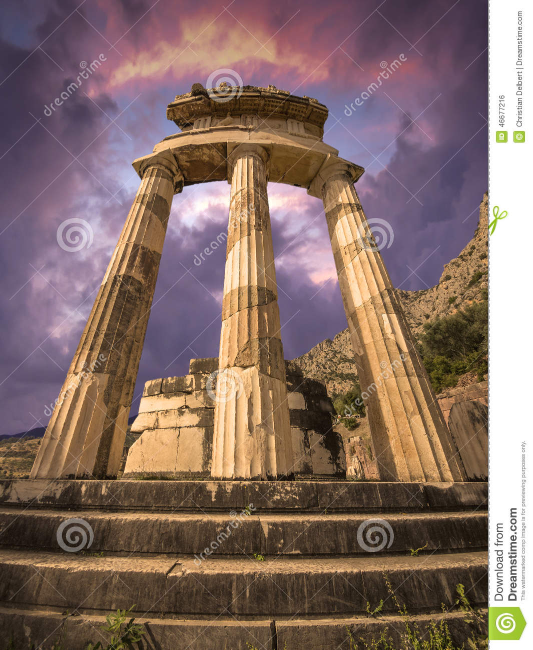 The Tholos, Delphi, Greece Stock Photo - Image: 46677216