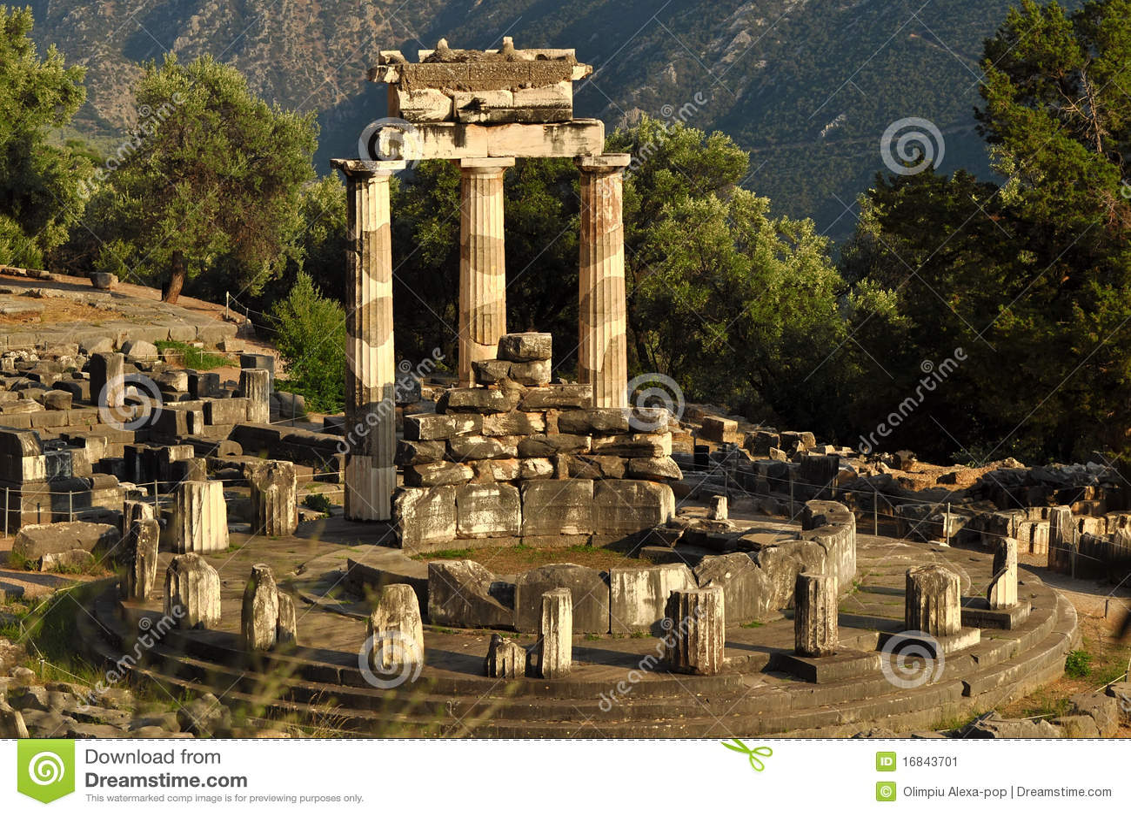 The Tholos At The Sanctuary Of Athena Pronaia Stock Image ...