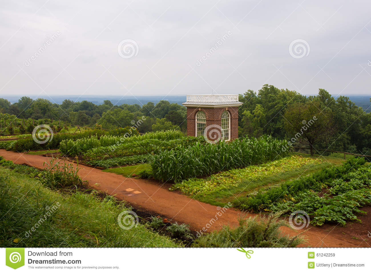 Thomas Jefferson Farm At Monticello Stock Photo Image
