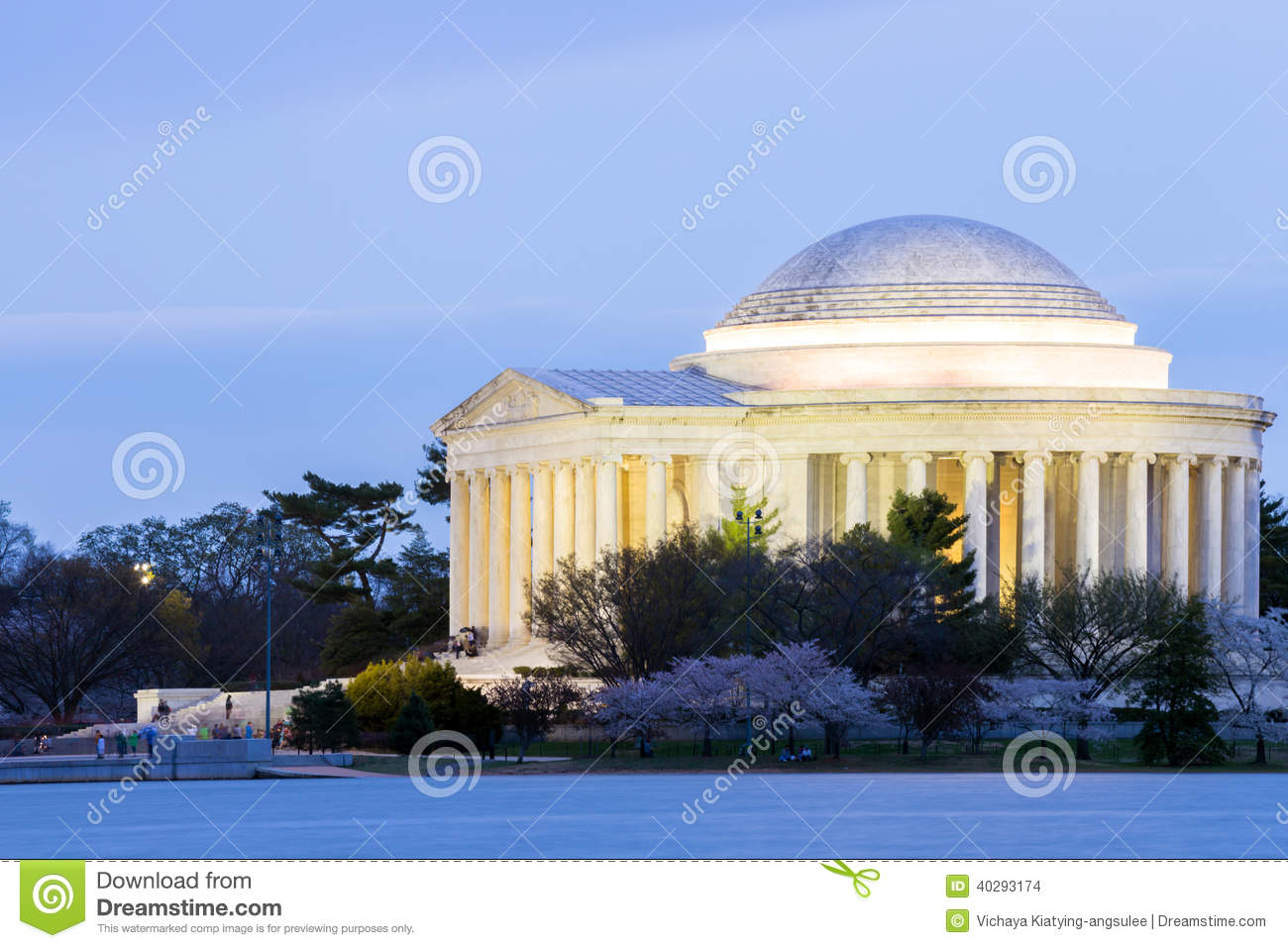 Thomas Jefferson Memorial Building Stock Photo - Image of ...