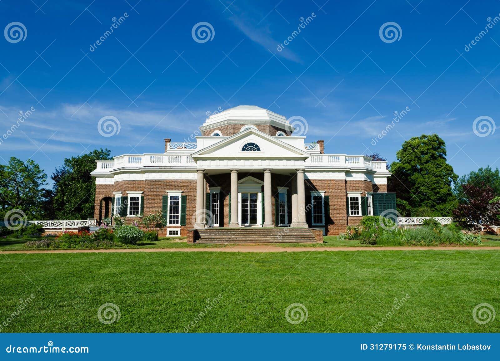 Thomas Jefferson S Monticello Stock Image Image Of House