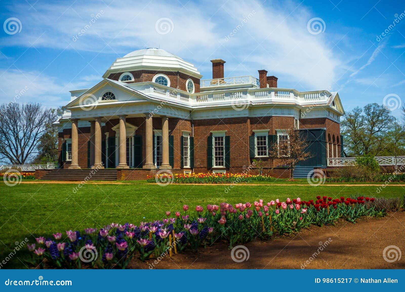 Thomas Jefferson ` s Neoklasyczny Monticello