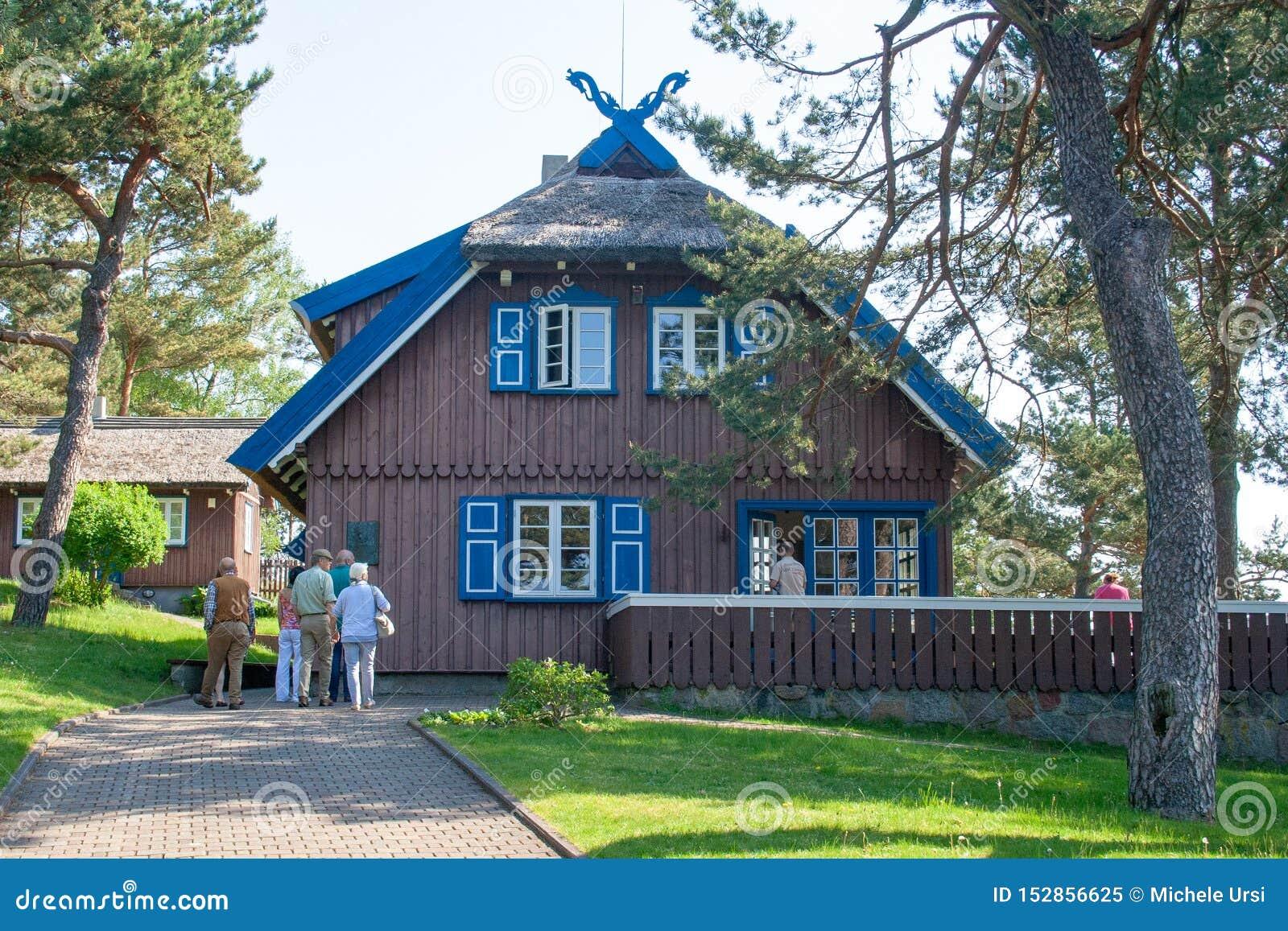 Thomas Mann-de zomerhuis, oud Litouws traditioneel blokhuis in Nida, Litouwen