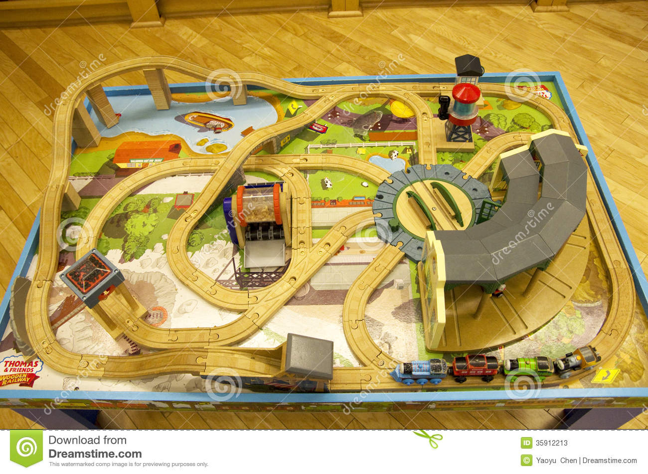 Thomas train table track set  sc 1 st  Dreamstime.com & Thomas Train Table Track Set Editorial Stock Photo - Image of wood ...