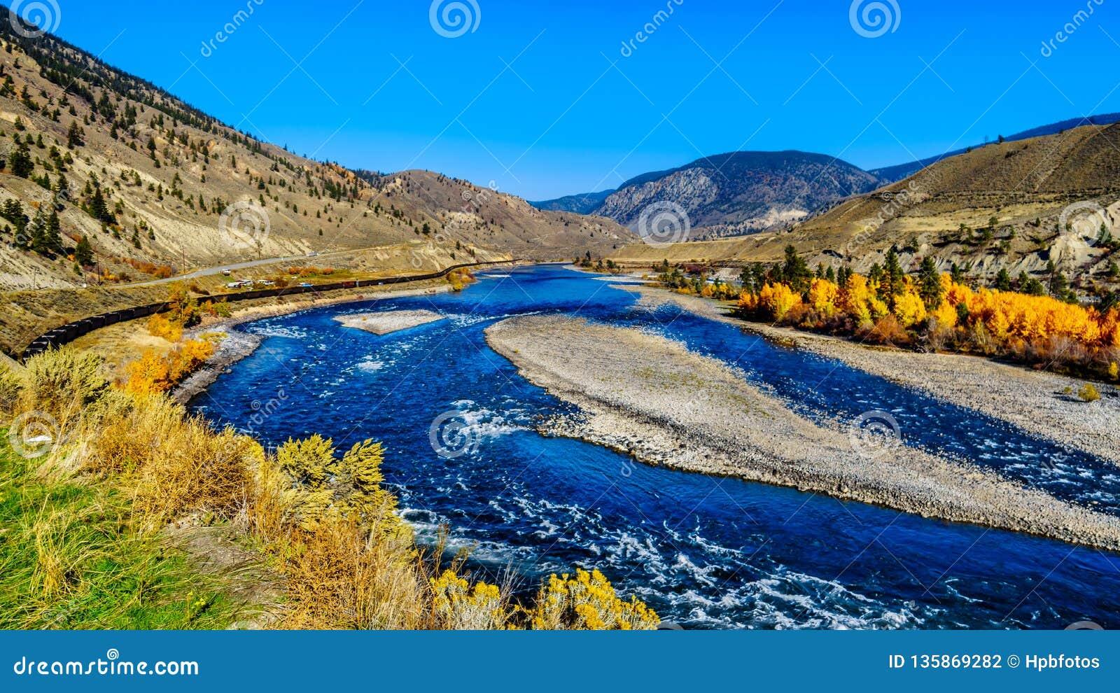 The Thompson River at Spences Bridge in BC Canada