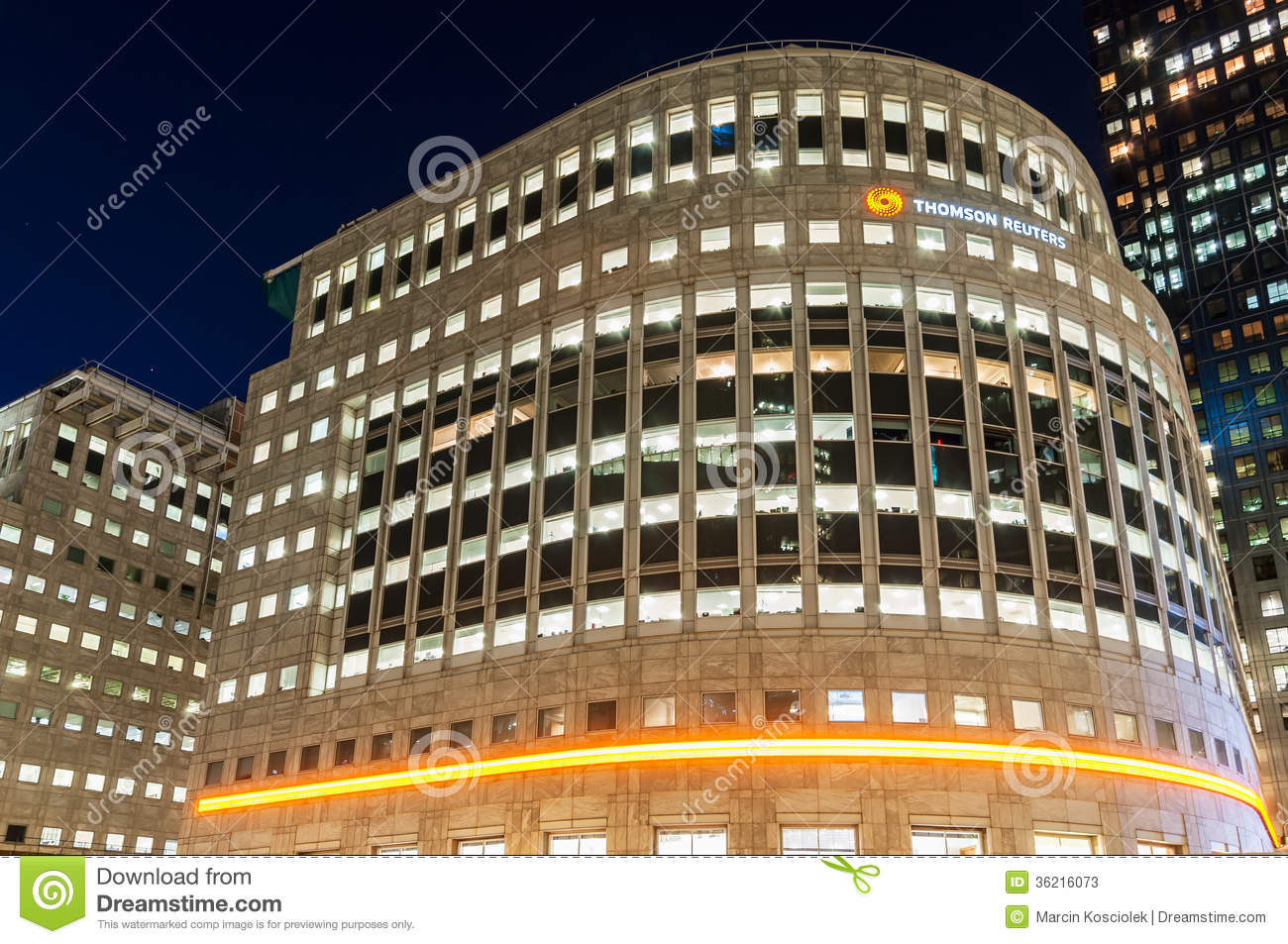 the thomson reuters building in canary wharf editorial stock photo image of district bright. Black Bedroom Furniture Sets. Home Design Ideas