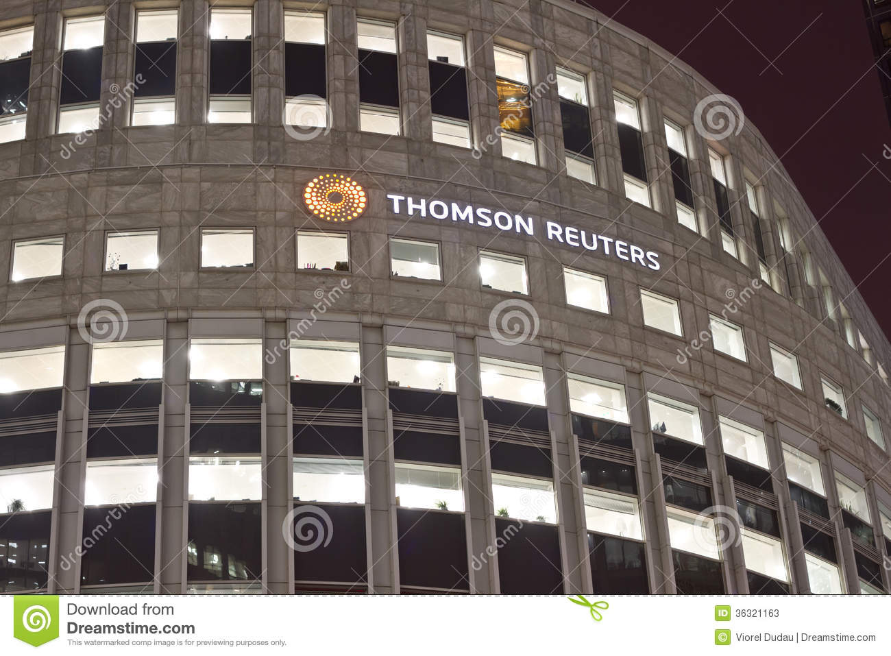 Thomson Reuters Editorial Stock Photo - Image: 36321163