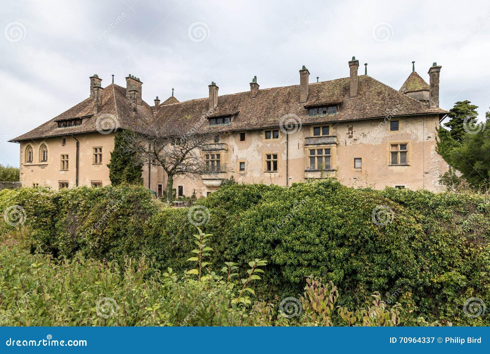 THONON-LES-BAINS FRANCE/ EUROPE - SEPTEMBER 15: Chateau de Ripaille at Thonon-les-Bains in France on September 15, 2015