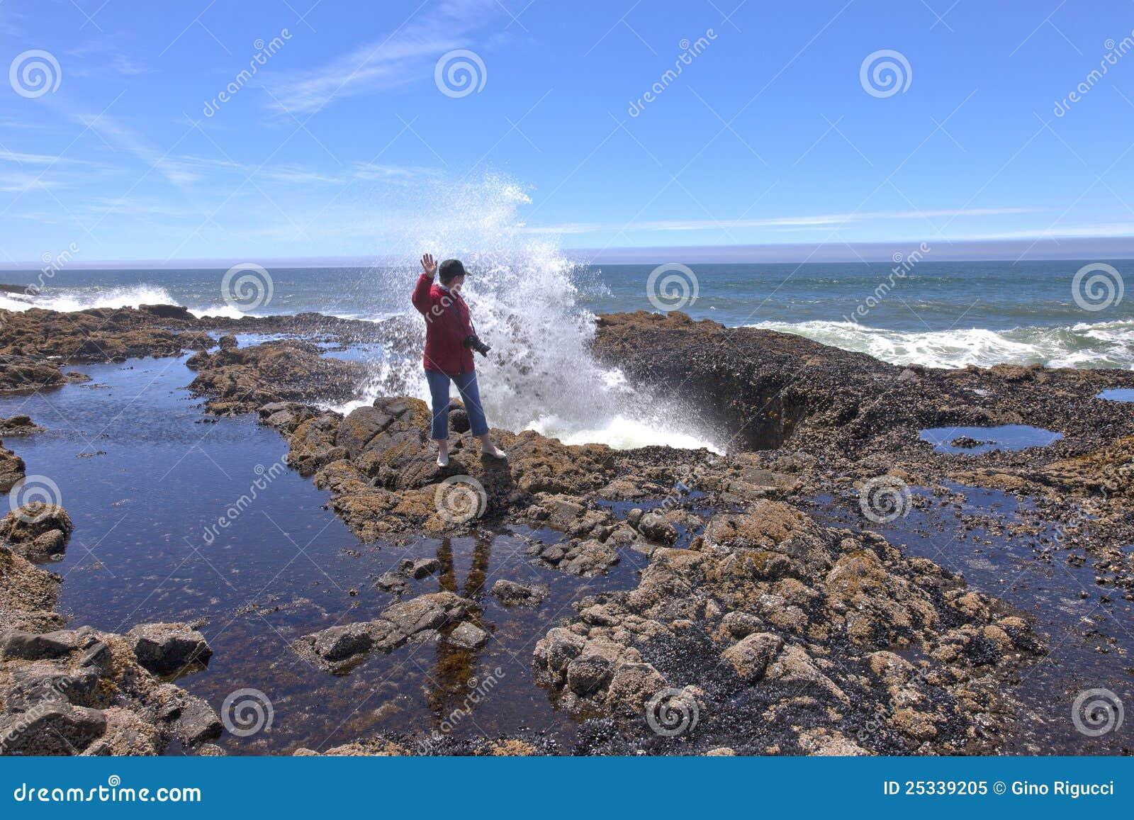 Thor39s Well Oregon Coast Royalty Free Stock Photo  Image