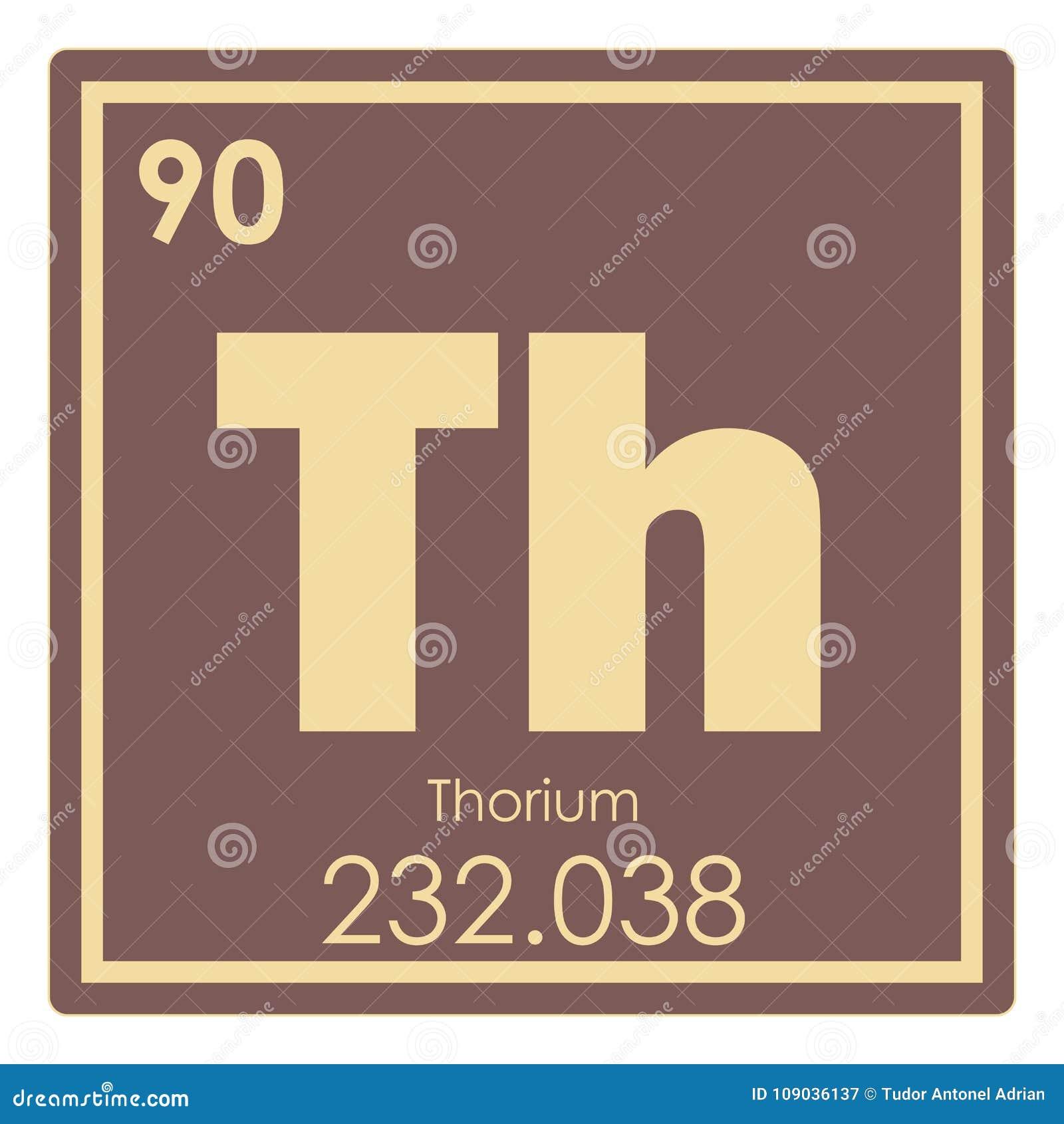 Thorium Chemical Element Stock Illustration Illustration Of