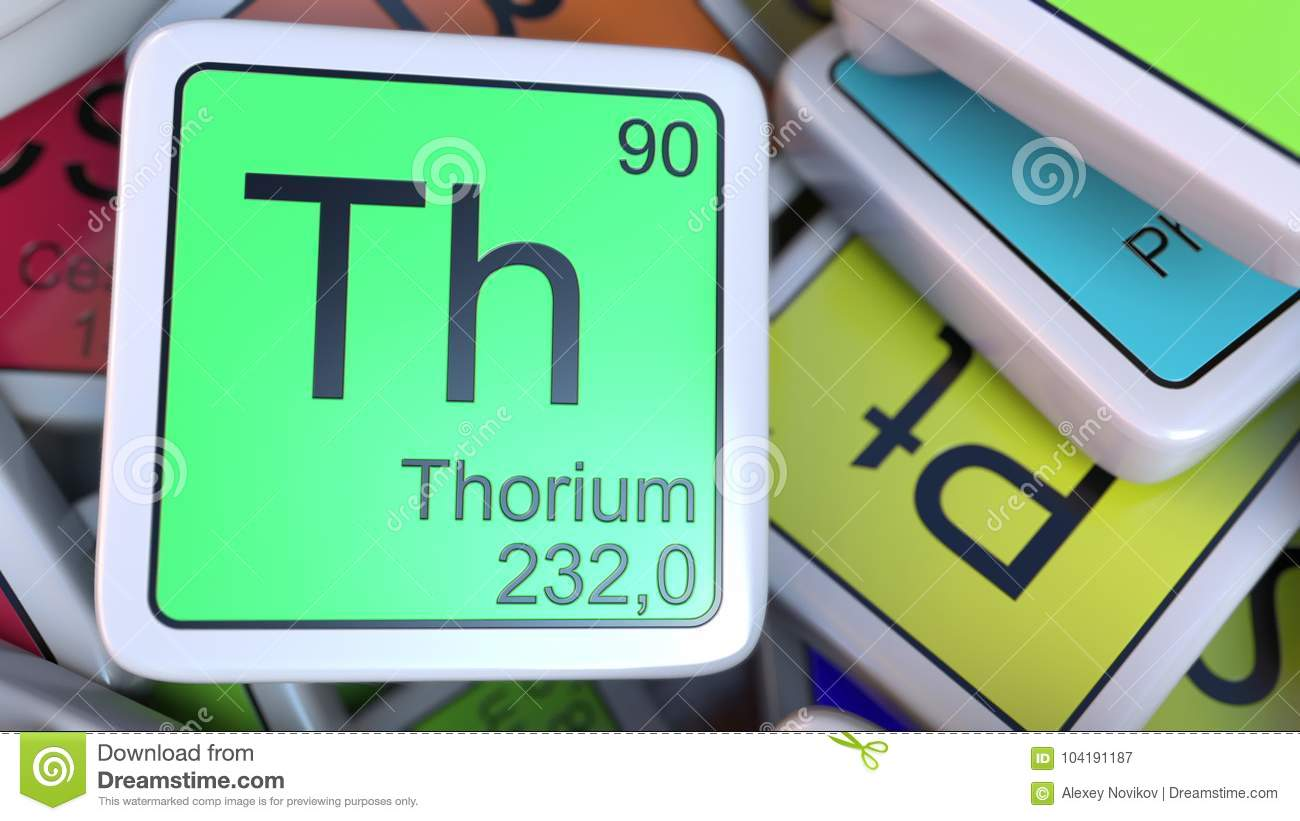 Thorium Th Block On The Pile Of Periodic Table Of The Chemical