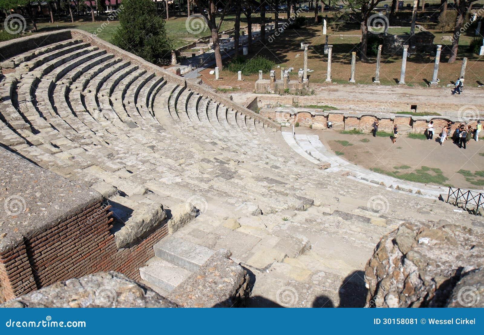 Ruins of amfitheatre in ostia antica italy editorial for Mr arredamenti ostia antica