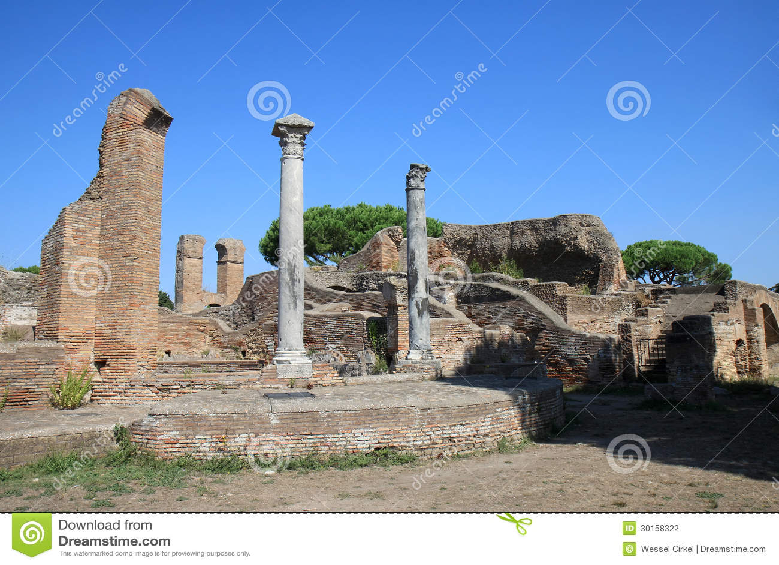 View over the palaestra in ostia antica italy stock for Mr arredamenti ostia antica