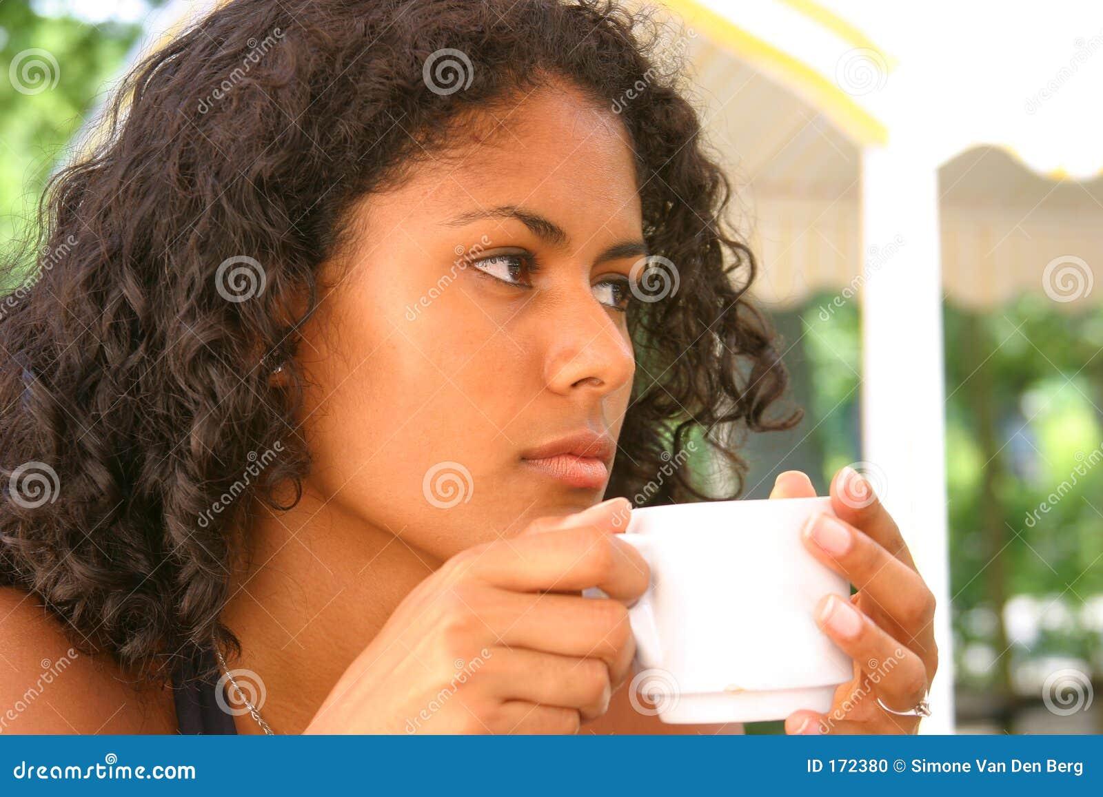 Thoughtful brazilian woman