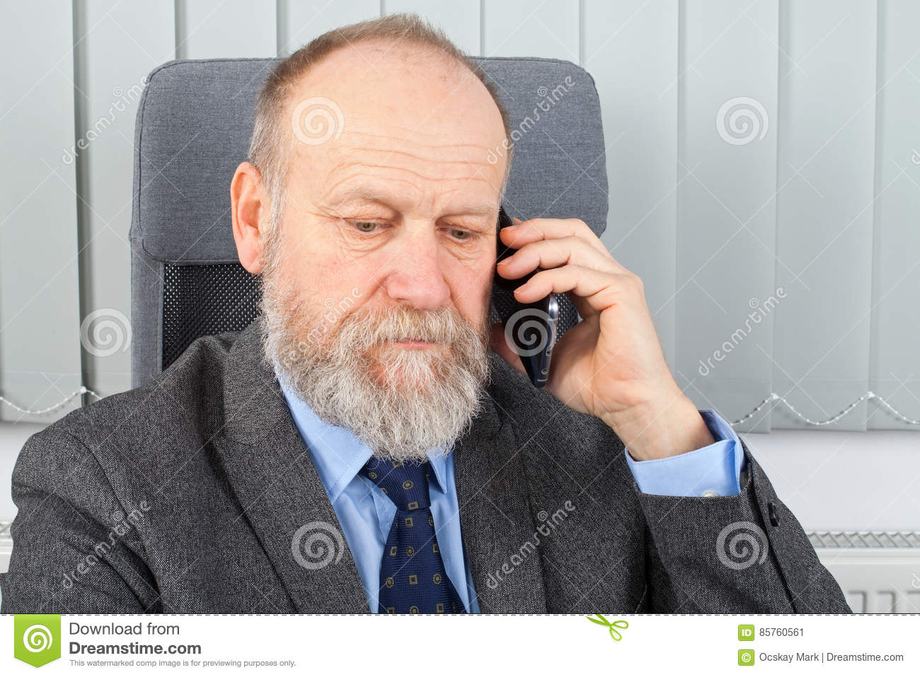 Thoughtful Businessman Having A Phone Call Stock Image ...