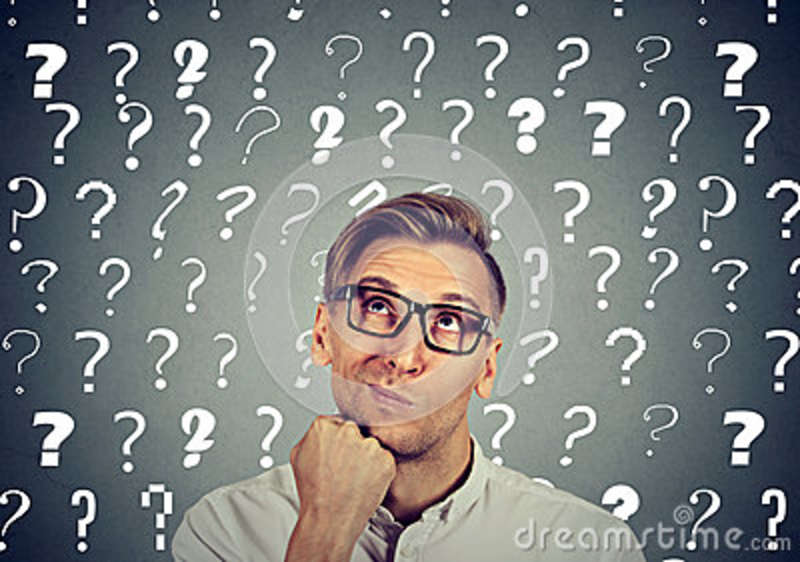 Thoughtful man has many questions no answer