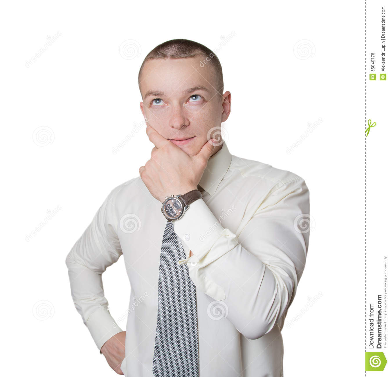 Thoughtful office employee stock photo. Image of sell ... Офисный Работник Рисунок